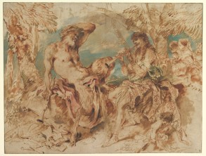 """""""Youth Playing a Pipe for a Satyr"""""""